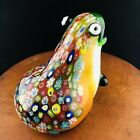 Vtg Murano Millefiori Frog Paperweight Glass Heavy Open Mouth Pollywog Vase