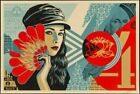 Obey Shepard Fairey Fan The Flames Print Signed and Numbered Ed of 550
