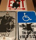 BANKSY Style Original Spray Art Painted Metal Street Signs Graffiti Painting Lot