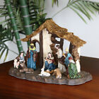 Resin LED Nativity Scene Set Pre Lit Light Up Christmas Ornament Decoration US