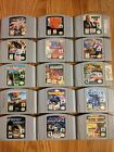 Nintendo 64 Authentic 15 Game Lot TESTED+WORKING