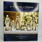 Robert Stanley The Promise Of Christmas Deluxe 7 PC Nativity Set Scripture 2012