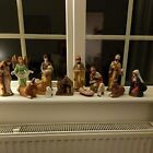 Xmas Nativity Scene Livestock Shepherds Kings Baby In A Manager Stable Used