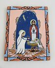 New Mexican Hand Painted Christmas Nativity Retablo
