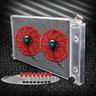 For 1970 1981 Chevy Camaro 64mm Aluminum Racing Radiator + 2 12 Cooling Fan