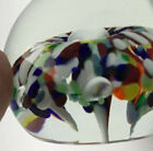 Zimmerman signed  stamped 92 confetti art glass paperweight controlled bubble