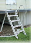 Aluminum Swing Up Ladder for Above Ground Pool  Ground to Deck
