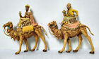 Vintage Fontanini Roman 65 Wisemen Kings Camels Christmas 2 Figurines ITALY