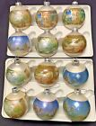 Vtg Corning Glass Nativity Scenes Christmas Ornaments 2 Boxes 12 Ornaments