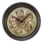 BBB85289 La Crosse Clock Company 13 Metal Analog Wall Clock with Working Gears