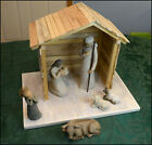 Christmas Nativity CRECHE STABLE BARN MANGER SCENE WILLOW TREE wood new NICE