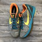 Nike Zoom Kobe 6 VI Helicopter Glass Blue Vibrant Yellow 429659 005 Size 13 Grey