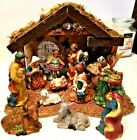 Vintage Enchanted Forest 12pc Beautiful Nativity Set