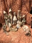 Lladro 4670 4680 Childrens Nativity 11 pieces Mint Matte No Boxes LK