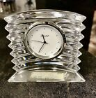 BEAUTIFUL BACCARAT CLEAR CRYSTAL TABLE CLOCK FRANCE GIFTWARE PAPERWEIGHT