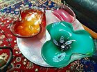 MURANO 3 Art Glass Folded Candy Dish COLLECTION MICA MILLEFIORI GORGEOUS
