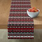 Table Runner Western Indian Native Ethnic Crosses Pueblo Mountains Cotton Sateen