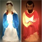 Vintage Empire Nativity Blow Molds 2 Piece Mary  Joseph Christmas Lighted Works