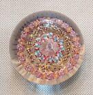 Vintage Signed Baccarat Crystal Art Glass Paperweight Millefiori Cane Concentric