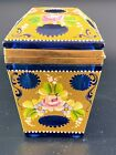 Rare Blue with Gold Murano Glass Vintage Coffin Box 45 by 35