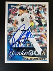 A.J. BURNETT 2010 Topps Opening Day Signed Card Authentic AUTO YANKEES