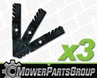 D516 3 Toothed Gator Style Blades Fits Cub Cadet MTD Troy Bilt with 50 deck