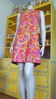 Vtg Swinging 60s Mod Psychedelic Micro Mini Laugh In Twiggy Flower Power Dress M