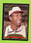 1996 Canadian Club On Card Autograph Frank Robinson Baltimore Orioles (d. 2019)