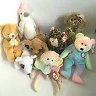 Lot of 8  Beanie Babies w Tags Beverly Kuku Tiny Sneaky Hope BB Goochy Butch