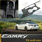 Carbon Fiber Look Inner Gear Shift Box Panel Cover Trim For Toyota Camry 2018 21