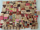 Wood Ink Rubber Stamps Huge Lot Over 200 Pieces Hobby Scrapbooking