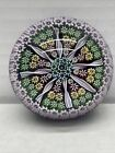 Scotland Perthshire Millefiori Art Glass Paperweight Signed P Cane