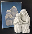 Vintage Avon Nativity Children In Prayer White Porcelain 1991 10th Anniversary