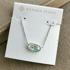 Kendra Scott Elisa Pendant Necklace Dichroic Glass  Silver