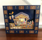 Kurt S Adler Wood and Magnetic Nativity Advent Calendar COMPLETE