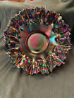 Fenton Glass 12 Iridescent Fluted Bowl
