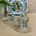 Classic Glass Candlesticks Set of 2 Crystal Candle Holder