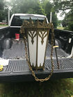 VINTAGE BRASS Hanging Gothic Lighting Fixture Church Cathedral Light 1960s