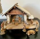 Anri Italy Kuolt Carved Nativity Scene 12 Pieces Crche 3 Inch