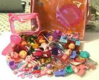 STRAWBERRY SHORTCAKE Large LOT of Dolls Furniture Play Case Miniatures More