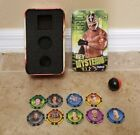 WWE TOPPS EXCLUSIVE TIN BOX REY MYSTERIO CHIPZ LOT with magnetic Ball!