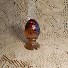 Fenton Art Glass Egg Limited Edition Hand Painted 555 Of 1500