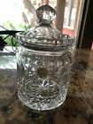 Neiman Marcus Crystal Biscuit Candy Jar with Lid Leaded Cut Glass Made in Poland