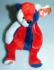 Ty Patriot Beanie Baby Red White Blue American Flag 2001 Plush Stuffed Toy