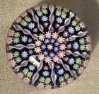 Perthshire Crieff Scotland Millefiori Spoked Glass Paperweight Signed 2 1 2