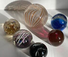Lot Of 6 Art Glass Paperweights Signed and Unsigned