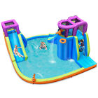 Costway 6 in 1 Inflatable Dual Slide Water Park Climbing Bouncer Without Blower