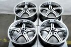 15 Wheels Ford Fiesta Escort Yaris Prius C Corolla Scion xA xB Black Rims 4 Lug