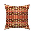 Navaho Rug Carpet Native Throw Pillow Cover w Optional Insert by Roostery