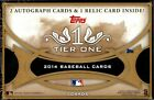 2014 TOPPS TIER ONE HOBBY BOX Ken Griffey Jr, Mariano Rivera, Mike Trout auto